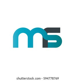 Initial Letter MS Rounded Lowercase Logo