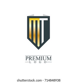 Initial Letter MT Company Design Logo Template