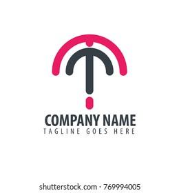 Initial Letter MT Design Logo