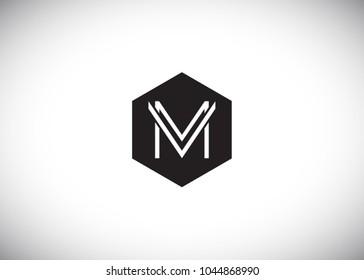 Initial Letter MV Hexagonal vector Logo