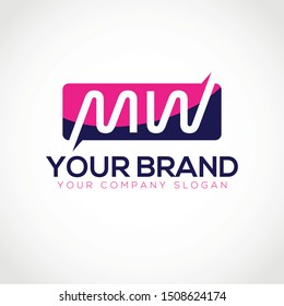Initial letter MW Logo Design vector template. Modern creative MW initial based letter icon logo.