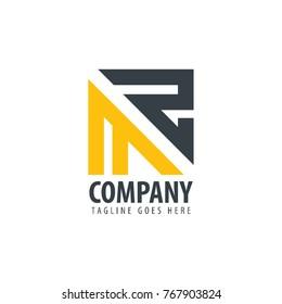 Initial Letter MZ Design Logo
