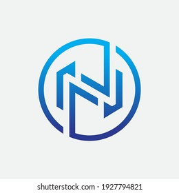 Initial Letter n Logo Design