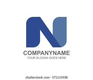 Initial Letter N logo design template element