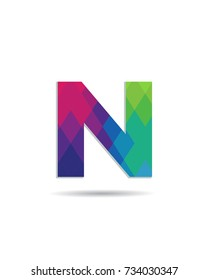 Initial Letter N Logo Design Template