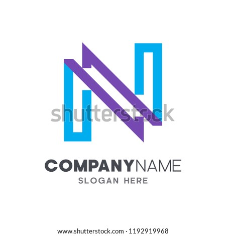 initial letter n logo template letter n logo design corporate identity ready for use