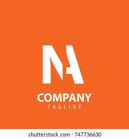 Initial Letter NA Design Logo