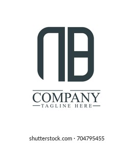 Initial Letter NB Linked Box Design Logo