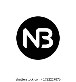 Initial Letter NB Logo Design Vector Template. Creative Abstract NB Letter Logo Design