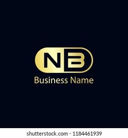 Initial Letter NB Logo Template Design