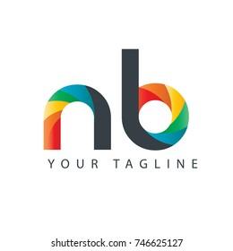 Initial Letter NB Rounded Design Logo