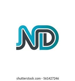 Initial Letter ND Linked Design Logo