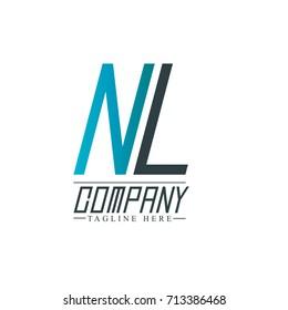Initial Letter NL Design Logo Template