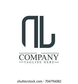 Initial Letter NL Linked Box Design Logo