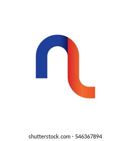 Initial Letter NL Rounded Lowercase Logo