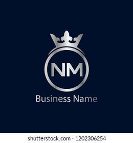 Initial Letter NM Logo Template Design