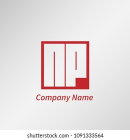 Initial Letter NP Logo Template