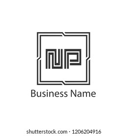 Initial Letter NP Logo Template Design