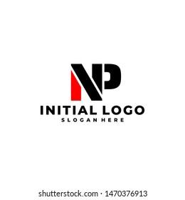 Initial Letter NP Logo Template Design.