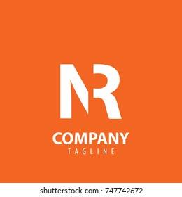 Initial Letter NR Design Logo