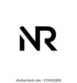 Initial Letter NR Logo Design Vector Template. Creative Abstract NR Letter Logo Design