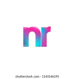 Initial Letter NR Logo Lowercase colorful design, Modern and Simple Logo Design.