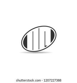 Initial Letter NR Logo Template Design