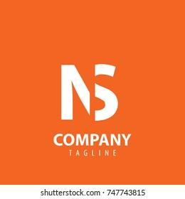 Initial Letter NS Design Logo