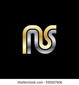 Initial Letter NS Linked Design Logo