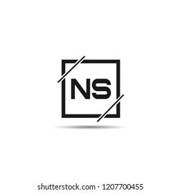 Initial Letter NS Logo Template Design