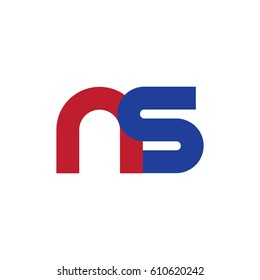 Initial Letter NS Rounded Lowercase Logo