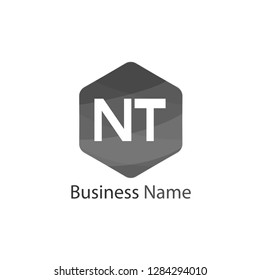Initial Letter NT Logo Template Design