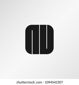 Initial Letter NU Logo Design