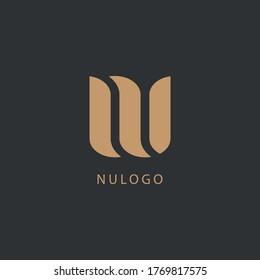 Initial Letter NU Logo Design. Good for Brand Identity.