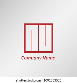 Initial Letter NU Logo Template