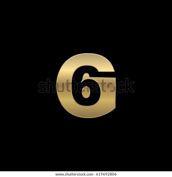Initial Letter Number Logo G 6 Stock Vector (Royalty Free) 619692806