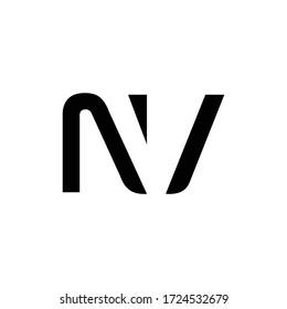 Initial Letter NV Logo Design Vector Template. Creative Abstract NV Letter Logo Design