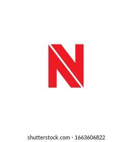 Initial letter nv logo or vn logo vector design templates