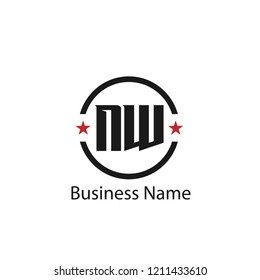 Initial Letter NW Logo Template Design