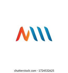 Initial Letter NW, NM , MW, MM Logo Design Vector Template. Creative Abstract NW, NM , MW, MM Letter Logo Design