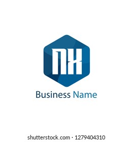 Initial letter NX logo template Design