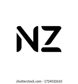 Initial Letter NZ Logo Design Vector Template. Creative Abstract NZ Letter Logo Design