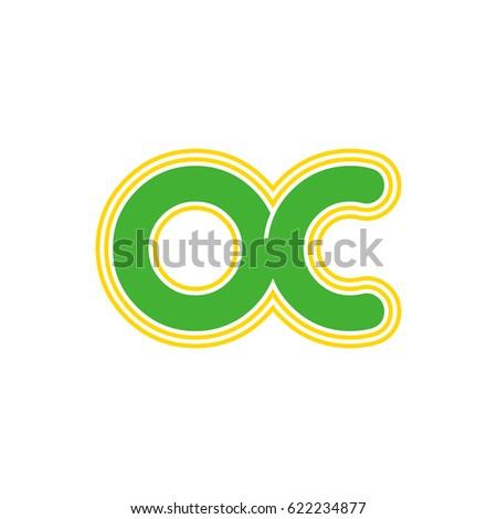 Initial Letter O C Oc Monogram Stock Vector Royalty Free 622234877