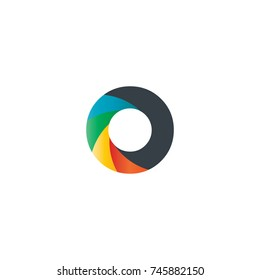 Initial Letter O Rounded Design Logo