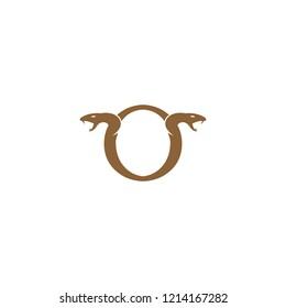 Initial Letter O Snake Logo Design