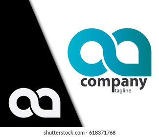 Initial Letter OA CA Rounded Lowercase Logo