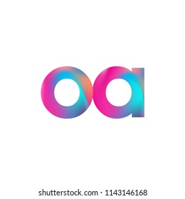 Initial Letter OA Logo Lowercase colorful design, Modern and Simple Logo Design.