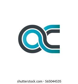 Initial Letter OC Linked Design Logo