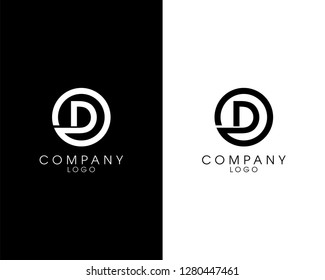 initial letter od/do logotype company name design. vector logo for business and company identity