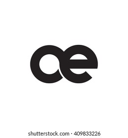 initial letter oe linked round lowercase monogram logo black